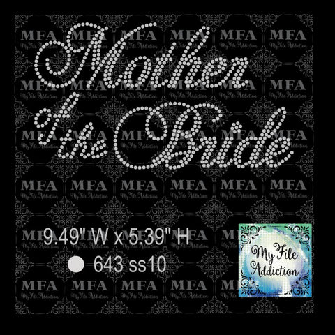 Mother of the Bride Rhinestone Digital Download File - My File Addiction