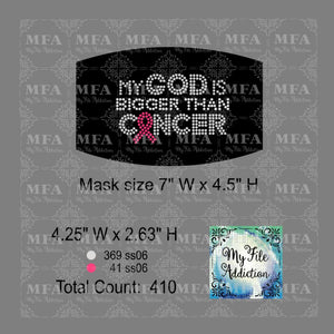 My God Is Bigger Than Cancer Small Rhinestone Digital Download File