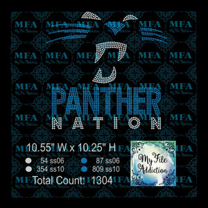Panther Nation Rhinestone Digital Download File - My File Addiction