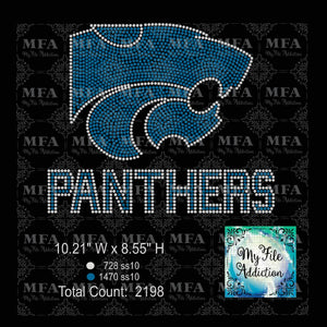Panthers Rhinestone Digital Download File - My File Addiction