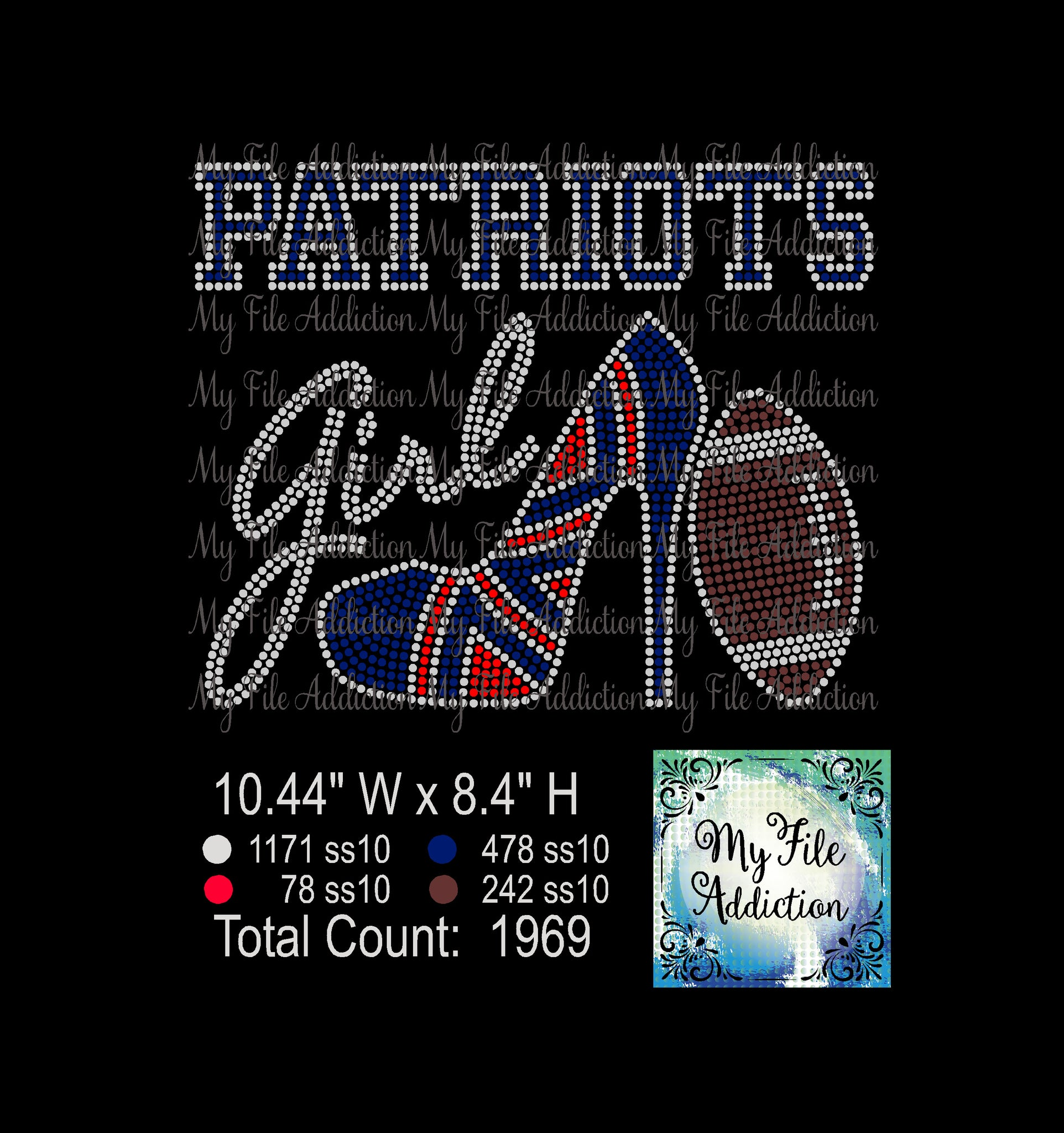 Patriots High Heel With Football Rhinestone Digital Download File - My File Addiction
