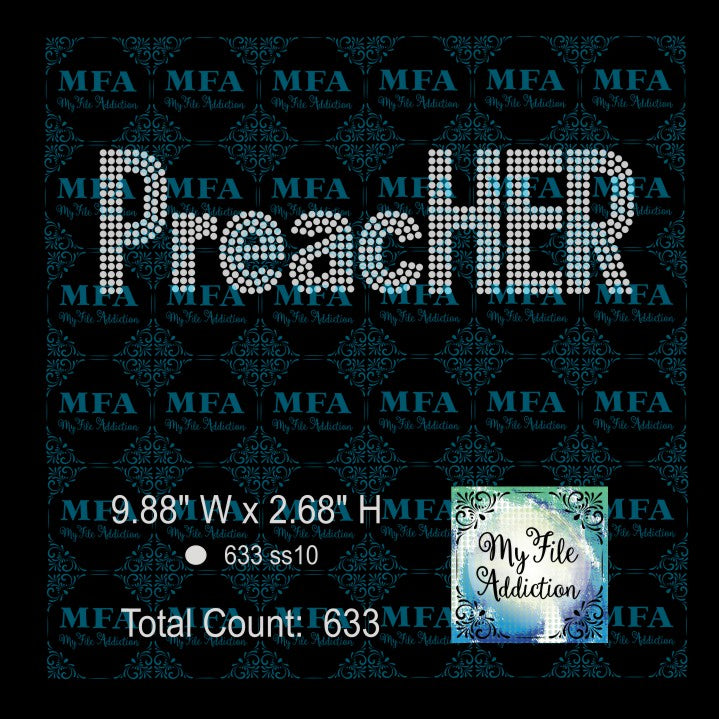 PreacHER Rhinestone Digital Download File - My File Addiction