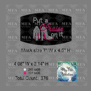 Put a Praise on it Small Rhinestone Digital Download File