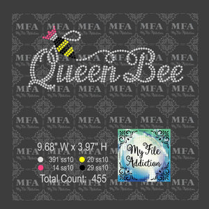 Queen Bee Rhinestone Digital Download File - My File Addiction