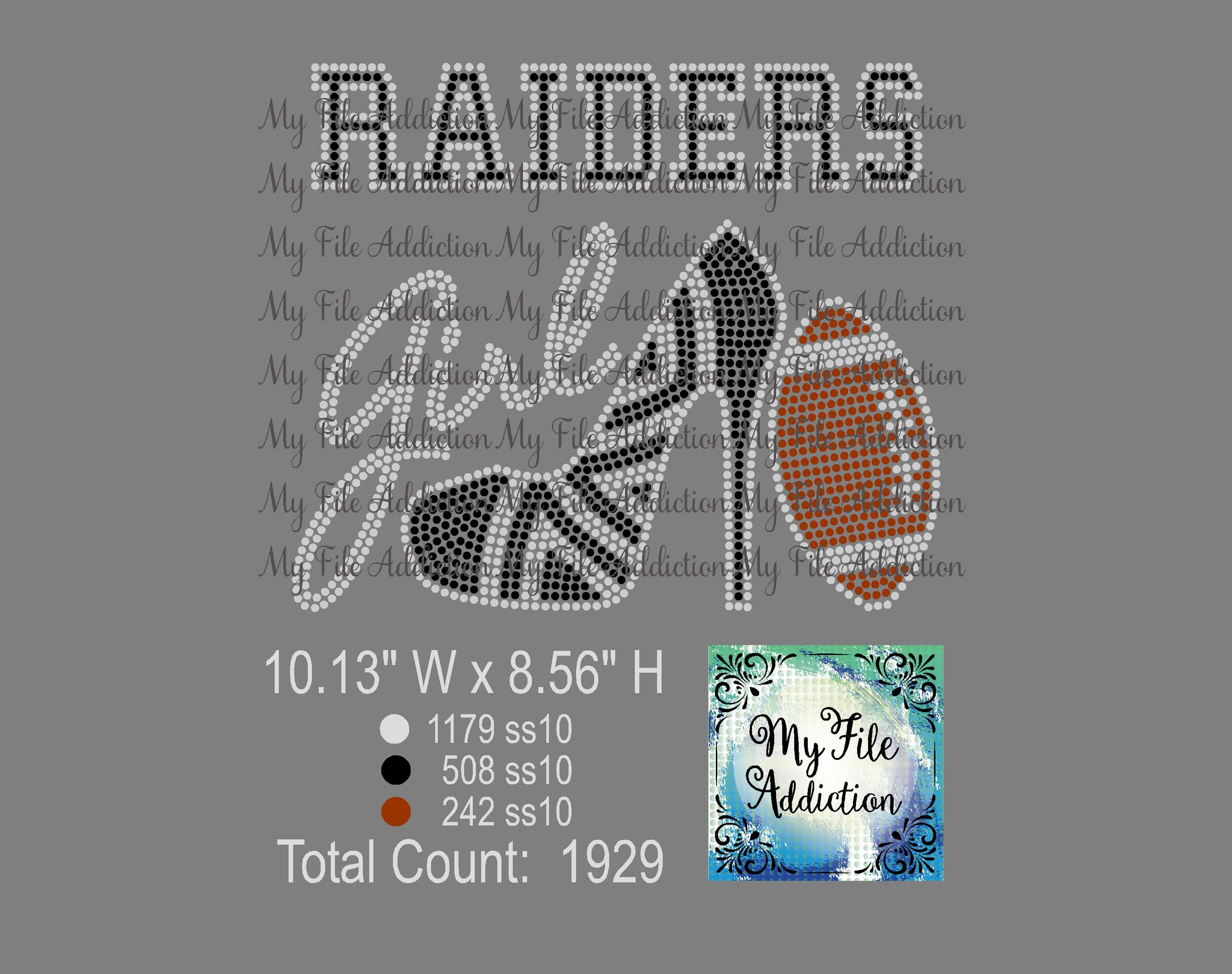 Raiders High Heel With Football Rhinestone Digital Download File - My File Addiction