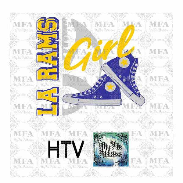 Rams Football High Tops Rose Wine High Heel Shoe Vector Digital Download File - My File Addiction