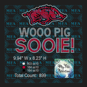 Razorbacks Wooo Pig Sooie Rhinestone Digital Download File - My File Addiction