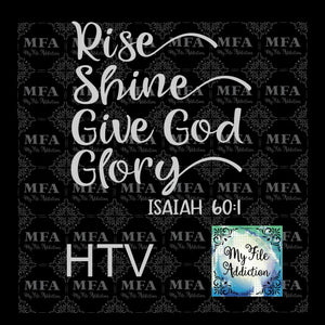 Rise Shine Give God Glory Vector Digital Download File - My File Addiction
