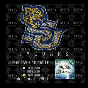 SU Jaguars Rhinestone Digital Download File - My File Addiction