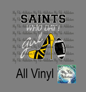 Saints Who Dat High Heel Shoe Vector Digital Download File - My File Addiction