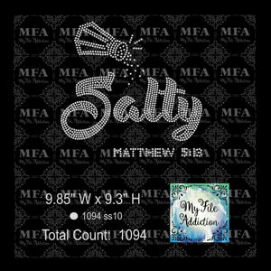 Salty Matthew 5:13 Rhinestone Digital Download File - My File Addiction