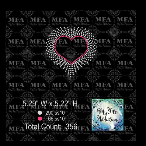 Free Scatter Heart Color Rhinestone Digital Download File - My File Addiction