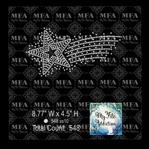 Shooting Star Rhinestone Digital Download File