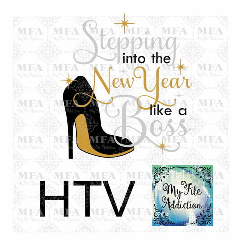 Stepping into the New Year Vector Digital Download File