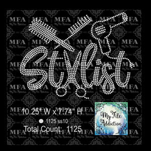 Hair Stylist 3 Rhinestone Digital Download File - My File Addiction