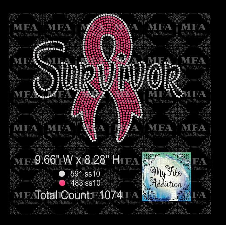Survivor 1 Cancer Rhinestone Digital Download File