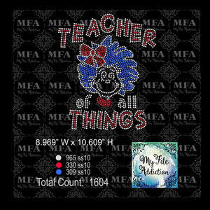 Teacher of all Things Rhinestone Digital Download File - My File Addiction