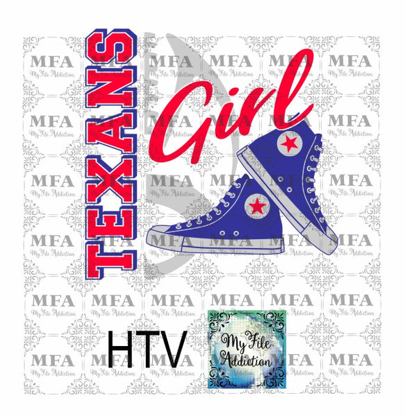 Texans Football High Tops Rose Wine High Heel Shoe Vector Digital Download File - My File Addiction