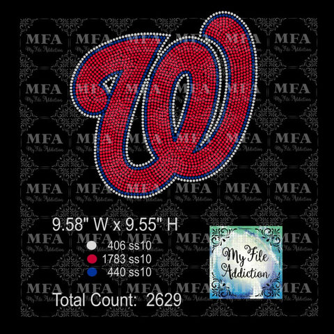 Washington Nationals Rhinestone Digital Download File - My File Addiction