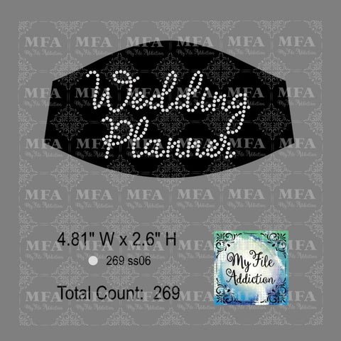 Wedding Planner Small Rhinestone Digital Download File