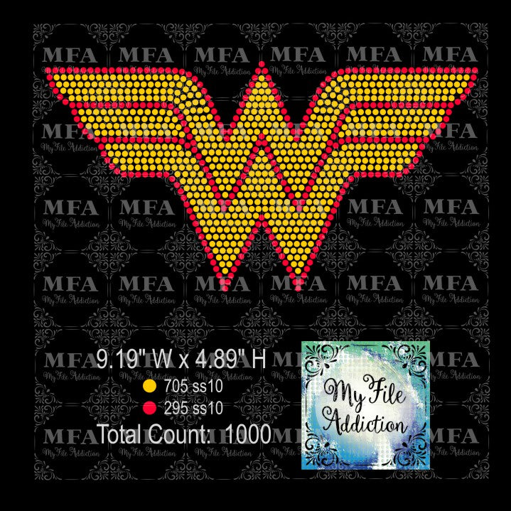 Wonder Woman Rhinestone Digital Download File - My File Addiction