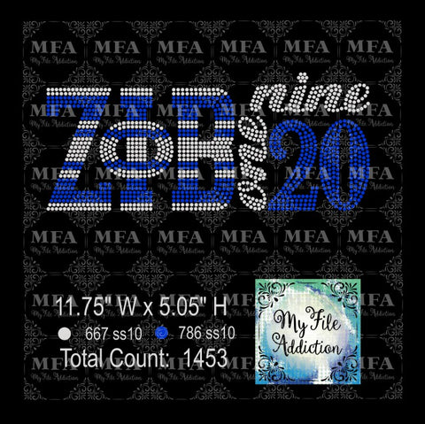 Zeta 1920 Rhinestone Digital Download File