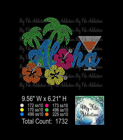 Aloha Hawaii Rhinestone Digital Download File - My File Addiction