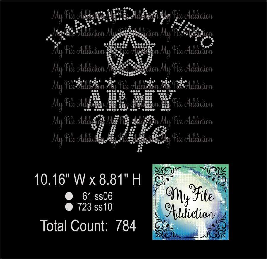 Army Wife Rhinestone Digital Download File - My File Addiction