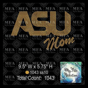 ASU Mom Rhinestone Digital Download File - My File Addiction