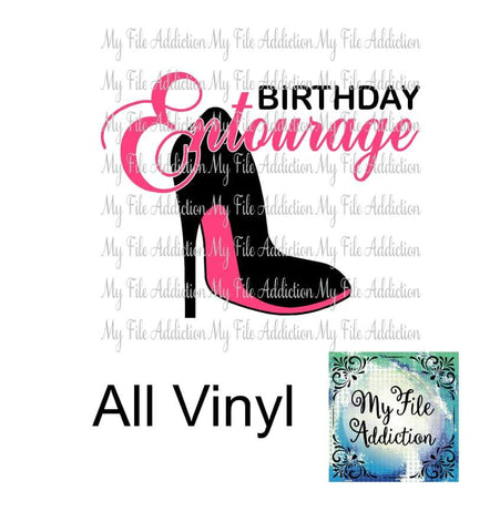 Birthday Entourage Stiletto Vector Digital Download File - My File Addiction