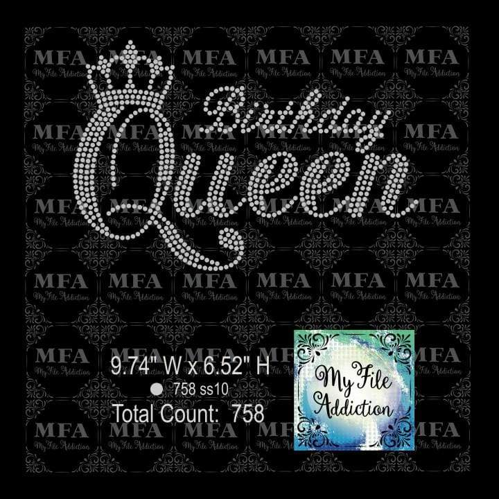Birthday Queen 3 With Crown Rhinestone Digital Download File - My File Addiction
