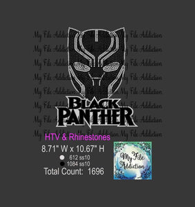 Black Panther Rhinestone & Vector Digital Download File - My File Addiction