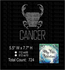 Cancer Zodiac Rhinestone Digital Download File - My File Addiction