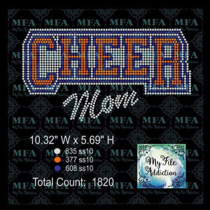 Cheer Mom Bold Rhinestone Digital Download File - My File Addiction