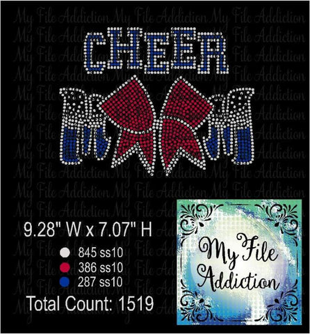 Cheer Mom Bow Rhinestone Digital Download File - My File Addiction