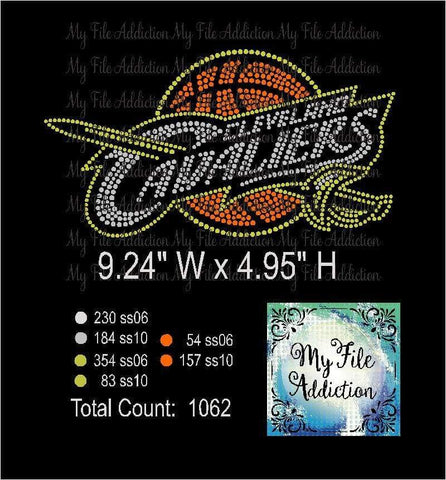 Cleveland Cavaliers Rhinestone Digital Download File - My File Addiction