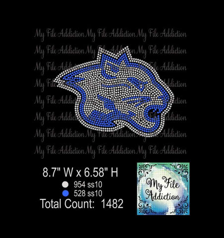 Cougar Bobcat Mascot Rhinestone Digital Download File - My File Addiction