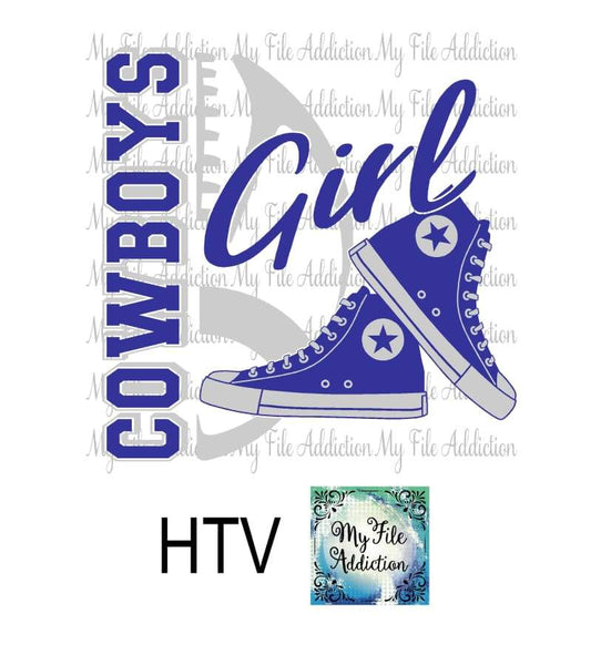 Cowboys Football High Tops Rose Wine High Heel Shoe Vector Digital Download File - My File Addiction
