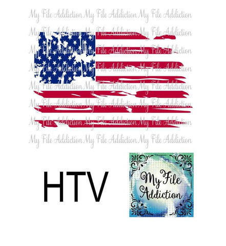 Distressed American Flag Vector Digital Download File - My File Addiction