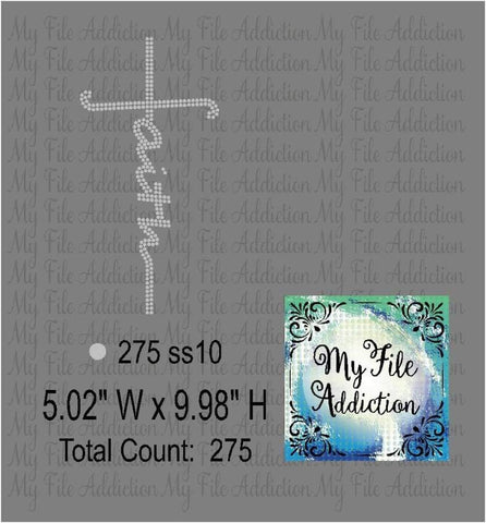 Faith Cross Rhinestone Digital Download File - My File Addiction