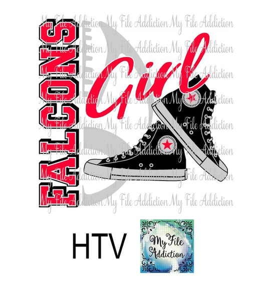 Falcons Football High Tops Rose Wine High Heel Shoe Vector Digital Download File - My File Addiction
