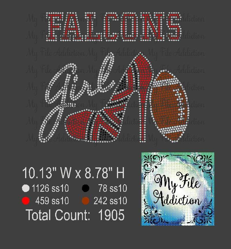 Falcons Shoe With Football Rhinestone Digital Download File - My File Addiction