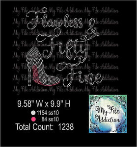 Flawless and Fifty Fine Rhinestone Digital Download File - My File Addiction