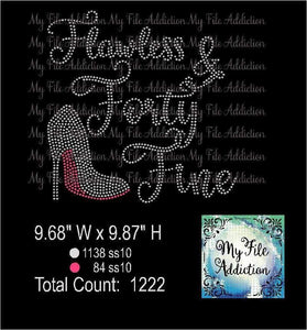 Flawless and Forty Fine Rhinestone Digital Download File - My File Addiction