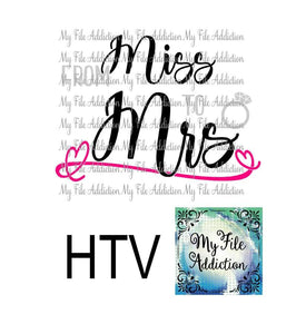 From Miss to Mrs Bride Vector Digital Download File - My File Addiction