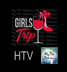 Girls Trip Wine Glass High Heel Vector Digital Download File - My File Addiction