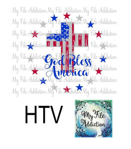 God Bless America Distressed American Flag Vector Digital Download File - My File Addiction