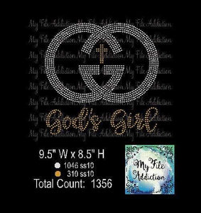 God's Girl Rhinestone Digital Download File - My File Addiction