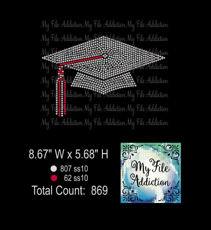 Graduation Cap Rhinestone Digital Download File - My File Addiction