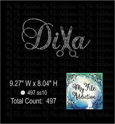 Hair Stylist Diva Rhinestone Digital Download File - My File Addiction